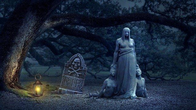 temný hřbitov